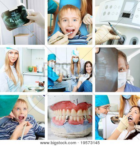 Dental collge: work in clinic (dental surgery, healthcare, medicine)