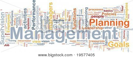 Background concept wordcloud illustration of management