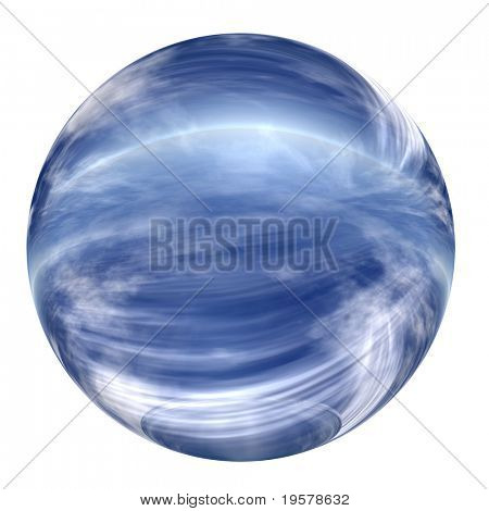 3d blue glass sphere isolated on white,ideal for 3D symbols, web buttons or logo designs