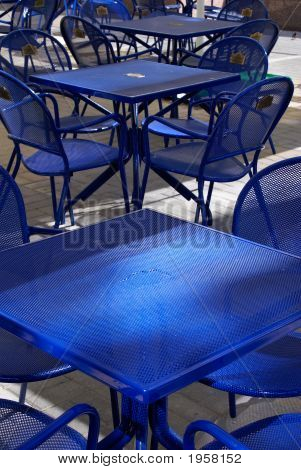 Chairs In Summer Cafe