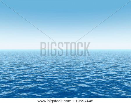 Hochauflösende blauen Wasser und ein klarer Himmel