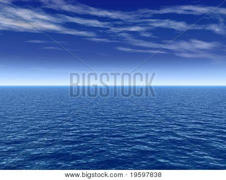 Hochauflösende blauen Wasser und Himmel Hintergrund