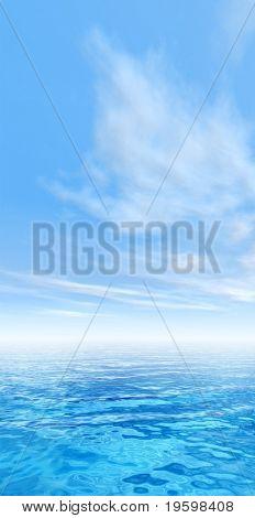 Hochauflösende blauen Wasser und Himmel