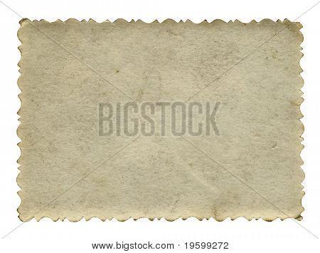 Fondo de papel viejo conceptual aislado en blanco