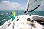 stock photo of sail-boats  - Sailing the Keys - JPG