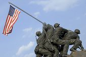 image of rosslyn  - The US Marine Corps War Memorial is located near Arlington National Cemetery in Rosslyn Virginia - JPG