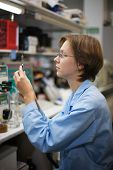 stock photo of chromatography  - The young nice woman - JPG