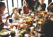 Thanksgiving Celebration Tradition Family Dinner Concept poster