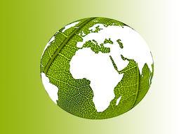 stock photo of environmentally friendly  - green world illustration representing environmentally friendly world - JPG