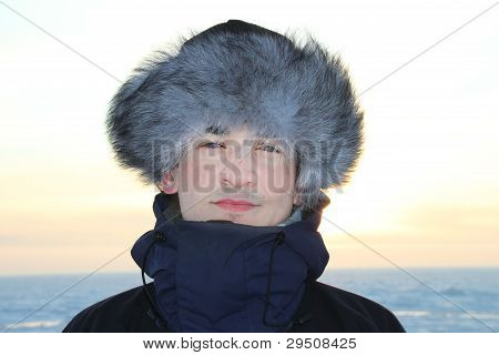 A Portrait Of Man  In A Fur Cap