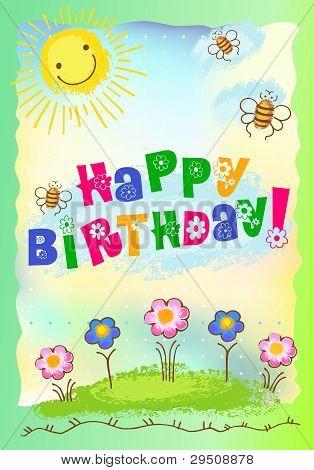 Cartão postal de feliz aniversário