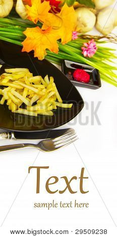 Fried Potatoes, Spices And Ingredients