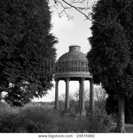 Black And White Temple At Roundhay Park In Leeds