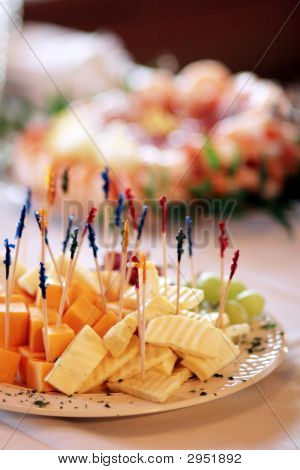 Tray Of Cheese And Grapes