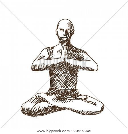 Charming vector yoga photographs