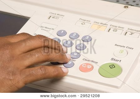 Copier, Female Hands Working