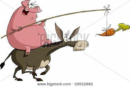 Pig On A Donkey