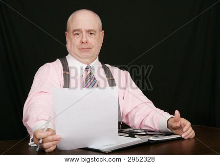 Business Man On A Black Background