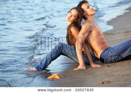 Couple At The Beach