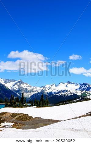 Rocky mountains at Whistler, Canada, home of the 2010 Winter