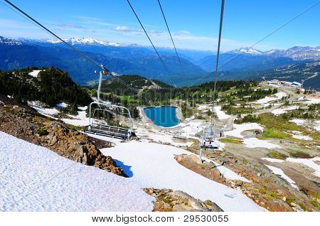 Spectacular view from chairlift on Whistler Mountain, Canada