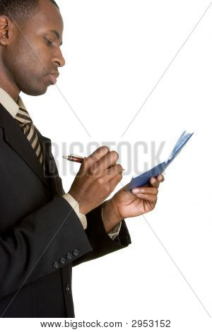 Check Writing Businessman