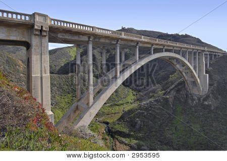 Bridge on the Pacific Coast between