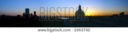 Boston Sunset Panorama Expanded