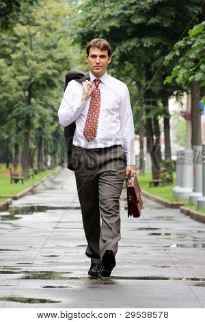 hombre de negocios de a pie