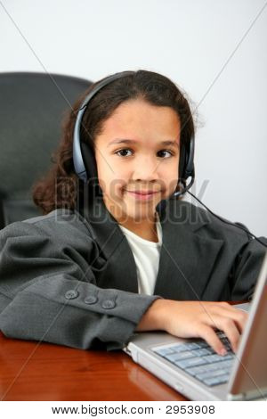 Child Taking Calls