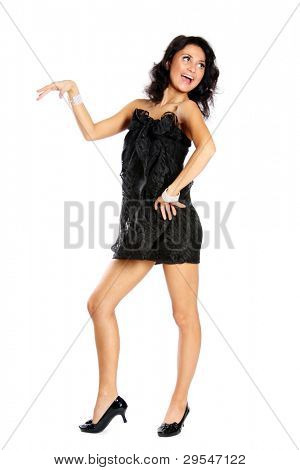 elegant fashion woman standing ...