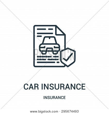 poster of Car Insurance Icon Isolated On White Background From Insurance Collection. Car Insurance Icon Trendy