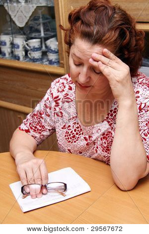 Middle Aged Woman Crying