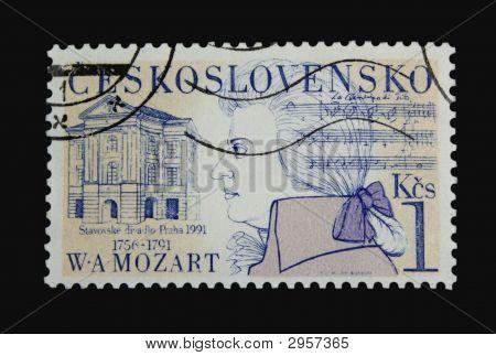 Mozart Postage Stamp