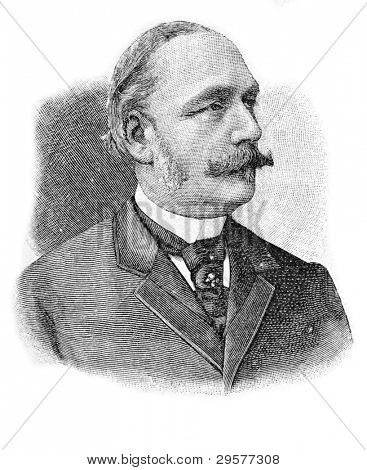 Portrait of Academician Ivan Merzheevsky. Engraving by Schyubler. Published in magazine