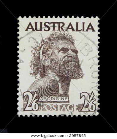 Aborigine Postage Stamp