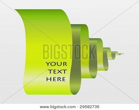 Abstract Scroll Paper Vector