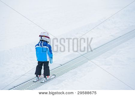 Junior skier.