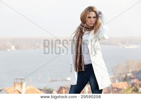 Winter Portrait Of Beautiful Young Woman