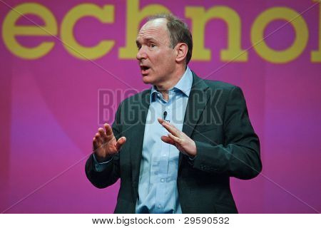Orlando, Florida - 18 de enero de 2012: Inventor y fundador de la World Wide Web Sir Tim Berners-lee Deli