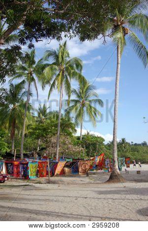 An Open Air Market On The Beach