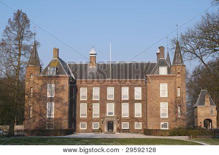 Castillo de holandés en el invierno
