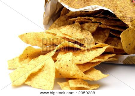 Bag Of Yellow Corn Chips