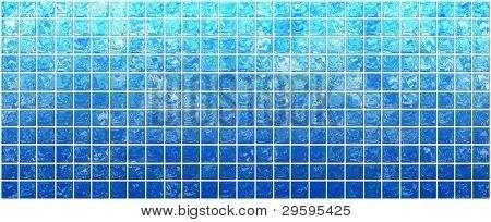 die schillernde blaue Quadrate auf ein weißes Banner
