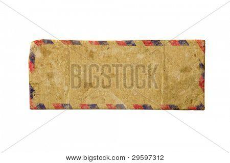 Vintage old airmail envelope on a dark background