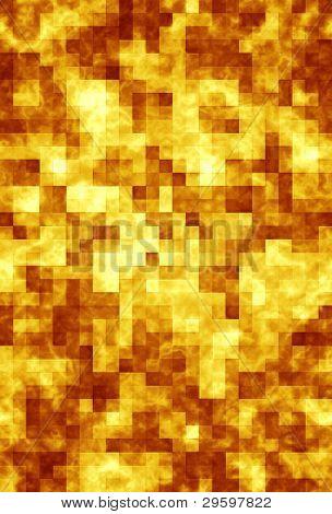 Nachahmung der goldenen Mosaiken, abstrakt