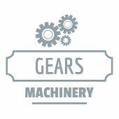 Process Machinery Logo. Simple Illustration Of Process Machinery Logo For Web poster