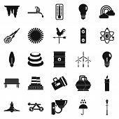 Glare Icons Set. Simple Set Of 25 Glare Icons For Web Isolated On White Background poster