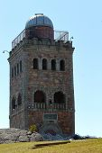 High Rock Tower Reservation, A City Park Of Lynn, Massachusetts. View Of High Rock Tower And Observa poster