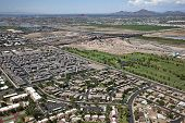 pic of piestewa  - Aerial view of golf course and rooftops along Loop 202 Red Mountain Freeway - JPG